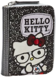 Hello Kitty Sancb0384 Wallet,Black/White/Red/Yellow,One
