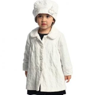 Angles Garment Toddler Little Girl White Swing Coat Hat