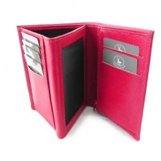 European leather wallet Frandi red   green york (3 parts