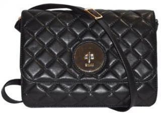 DKNY Black Sheep Skin Leather Quilted Napa Handbags Bag