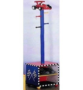 Race Car Coat Rack and Shoes Holder Baby