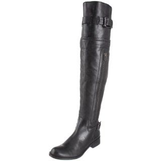 Steve Madden Womens Sabra Knee High Boot,Black Leather,12 M US Shoes