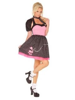 Sock Hop Cutie 50s Poodle Sexy Costume   LARGE Clothing