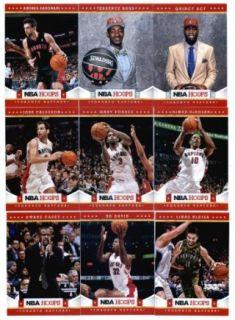 2012 13 Panini NBA Hoops Toronto Raptors Team Set In