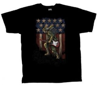 Guitar Soldier T shirt Rebel With A Cause Clothing
