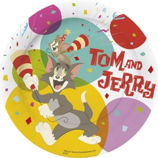 10 Assiettes Tom et Jerry (23cm)   Paquet de 10 assiettes Tom et Jerry