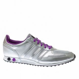 Adidas Trainers Shoes Womens La Trainer Sleek Silver Shoes