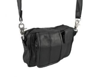 Black Nappa Leather Biker Ride Bag Belt Loop Purse