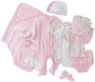 Gerber Baby girls Newborn Deluxe Layette Set, Pink/White