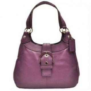 Coach Soho Leather Shoulder Hobo Bag Purse Tote 17219 Plum