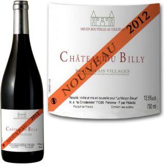 Château du Billy Beaujolais Villages Nouveau 2012   Achat / Vente VIN
