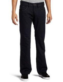 MEK Denim Mens Beijing Slim Boot Jean, Indigo/Dark Blue, 33 Clothing
