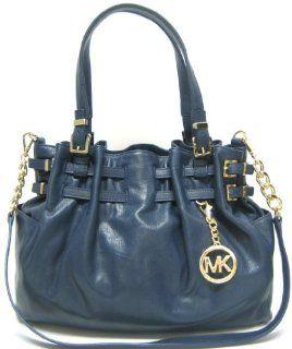 MICHAEL Michael Kors Edie Large Shoulder Bag (Navy) Shoes
