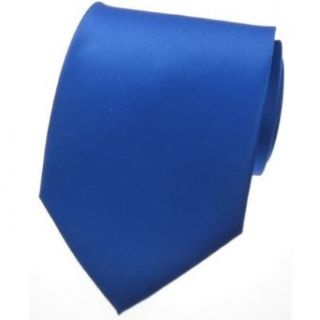 NEW SOLID ROYAL BLUE SATIN Mens Necktie Neck Tie Clothing