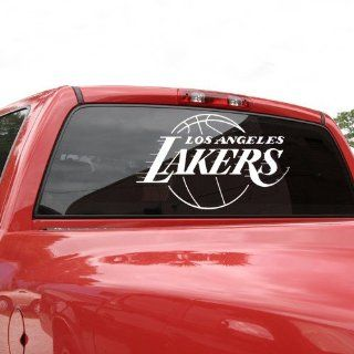 NBA Los Angeles Lakers 18x18 Whie Logo Decal Spors