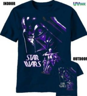 Star Wars UV Color Change Youth T shirt Darth Vader Fear