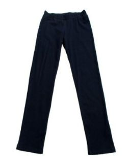 Girls Navy Blue Denim Look Stretch School Uniform Pants