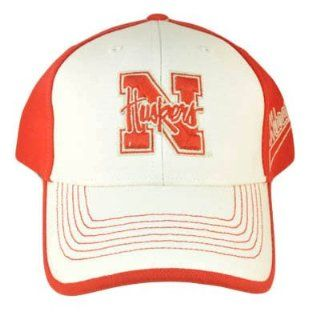 NCAA NEBRASKA HUSKERS SNAPBACK HAT CAP BLACK RED WHITE