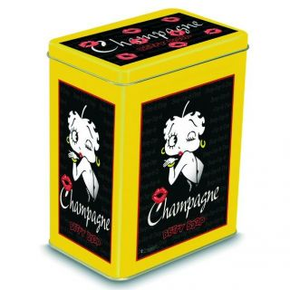 BOITE METAL DECORATIVE 12X8X15cm BETTY BOOP CHAMPAGNE NOIR   12x8x15