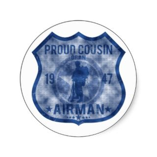 Proud Cousin   USAF Badge Stickers