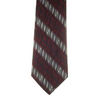 Pierre Cardin Mens Stripes 100% Silk Neck Tie Red One Size