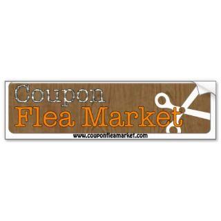 Coupon Flea Market Bumper Sticker