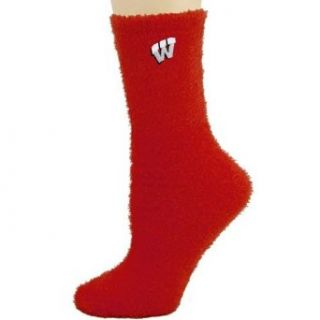 NCAA Wisconsin Badgers Cardinal Feather Touch Socks