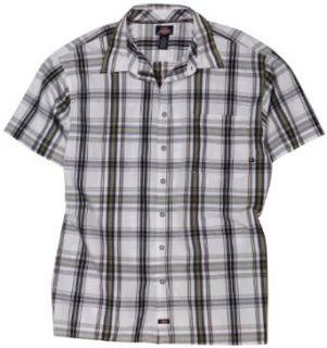 Dickies Mens Big Short Sleeve Window Pane Plaid Shirt