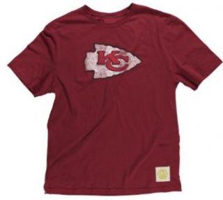 Kansas City Chiefs Throwback Retro Logo Vintage Red T