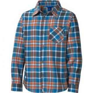 Marmot Boys Cliffs Flannel Long Sleeve Shirt   Azure Blue
