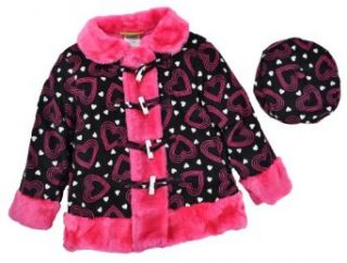 Penelope Mack Toddler Girls Black Pink Hearts Light
