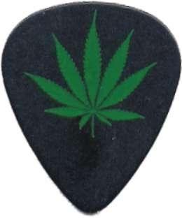 Pot Leaf Logo Guitar Pick Clothing