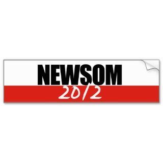 Newsom for Governor 2 Bumper Stickers