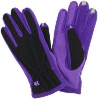 Isotoner Womens Smartouch Tech Stretch Gloves, Purple