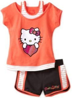 Hello Kitty Girls 2 6X Toddler Mesh Applique And