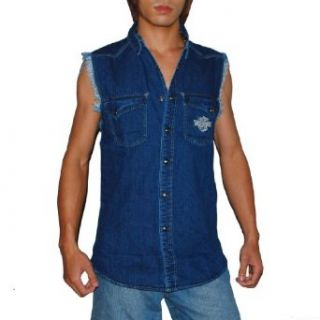 Mens Harley Davidson Motorcycles Racing Sleeveless Jean