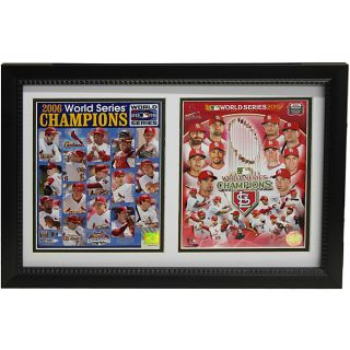 St. Louis Cardinals 2011/2006 World Series Champion Double Frame Today