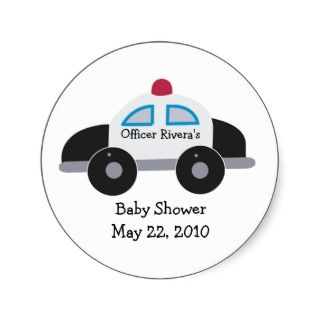 POLICE OFFICER Cop Baby Shower Inviaion 5x7