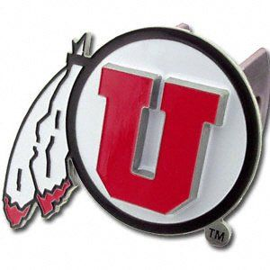 Utah Utes Pewter Logo Trailer Hitch Cover Sports