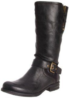 Naturalizer Womens Balada Wide Shaft Motorcycle Boot Shoes