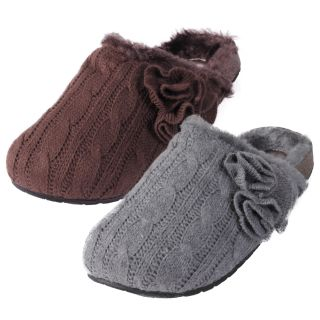 Madden Girl by Steve Madden Womens Billiee Cable Knit Slippers