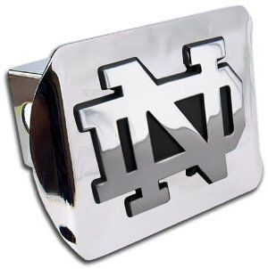 Notre Dame Fighting Irish Chrome Trailer Hitch Cover