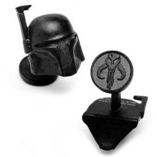 Cufflinks Inc Star Wars Matte Black 3 D Boba Fett Helmet