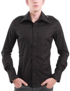 Doublju Mens Casual Bead Snap Shirts Clothing