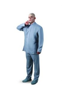 Deluxe Dr. Evil Costume   Mens 42 46: Clothing