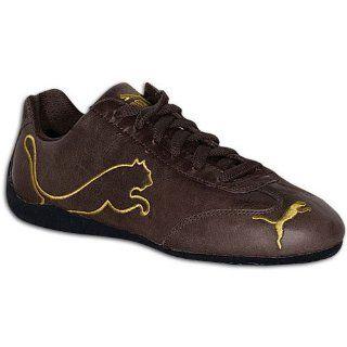 Speed Cat Big Leather ( sz. 44.0, Bracken Brown/Metallic Gold ) Shoes