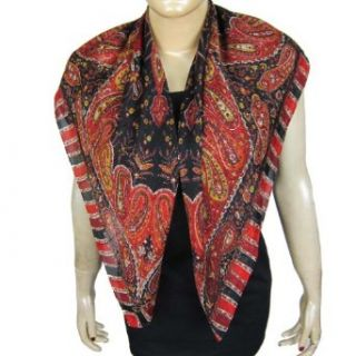 Clothing Online Silk Scarf Gifts Indian Wear 43 X 43 Inches Clothing