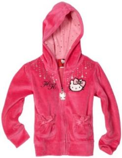 Hello Kitty Girls 2 6X Long Sleeve Hoodie With Satin Bow