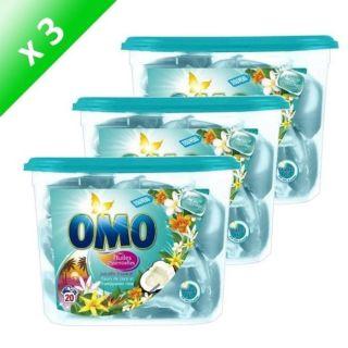 OMO Paradis ropical 20 capsules x3   Acha / Vene LESSIVE OMO 20CAPS