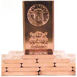 Pure Copper Bullion Bar Statue Of Liberty 2012 Design